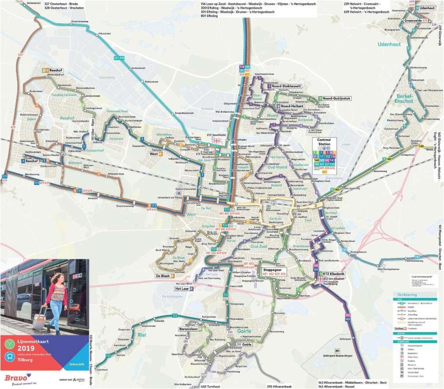 Busroutes Tilburg e.o.